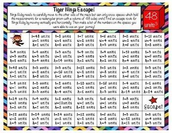 Volume of Rectangular Prisms Ninja Escape Maze!