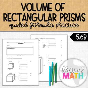 Volume of Rectangular Prisms: Guided Notes & Practice