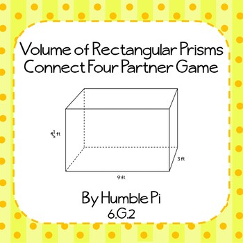 Volume of Rectangular Prisms Partner Game- 6.G.2