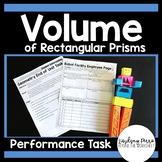 Volume of Rectangular Prisms Performance Task : 5.MD.5