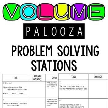 Volume of Rectangular Prisms Problem Solving Stations