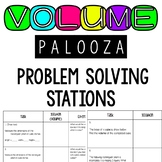 Volume of Rectangular Prisms Problem Solving Stations 5.6A 5.6B