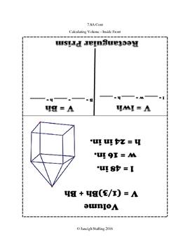 Volume of Rectangular Prisms & Pyramids INB TEKS 7.8A