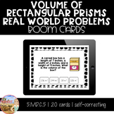 Volume of Rectangular Prisms Real World Problems - Boom Cards
