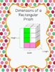 Volume of Rectangular Prisms Recording Sheet and Dimensions Poster