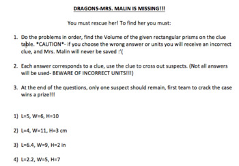 Volume of Rectangular Prisms SAVE THE TEACHER MYSTERY- 2 sets