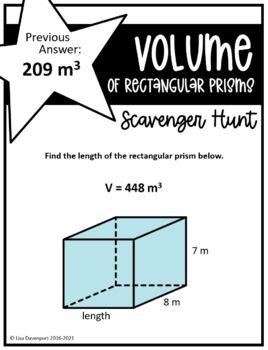 Volume of Rectangular Prisms (Scavenger Hunt)