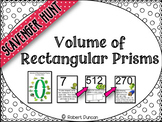 Volume of Rectangular Prisms - Scavenger Hunt and Exit Tickets