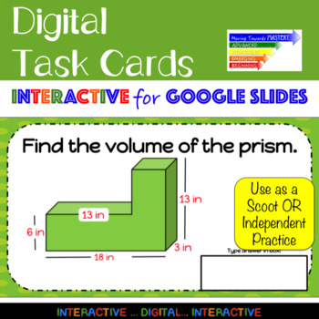 Volume of Rectangular Prisms Scoot: Interactive Google Slides