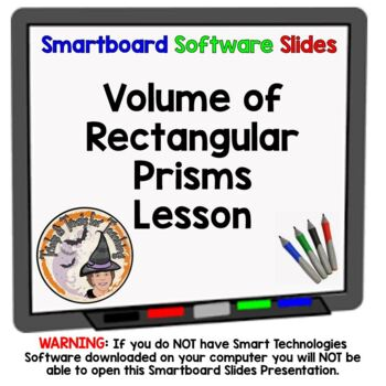 Volume of Rectangular Prisms Smartboard Lesson Geometry