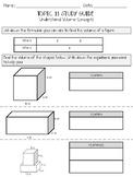Volume of Rectangular Prisms Study Guide