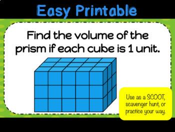 Volume of Rectangular Prisms Task Cards