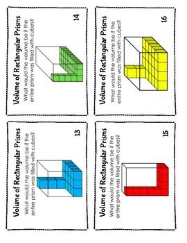 Volume of Rectangular Prisms Task Cards - 5.MD.3, 5.MD.4, 5.MD.5