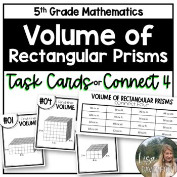 Volume of Rectangular Prisms (Task Cards/ Connect Four)