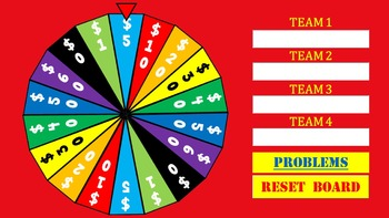 Volume of Rectangular Prisms Wheel of Knowledge Powerpoint Game