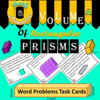 Volume of Rectangular Prisms Word Problems