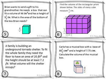 Volume of Rectangular Prisms Word Problems