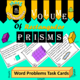 Volume of Rectangular Prisms Word Problems Task Cards.