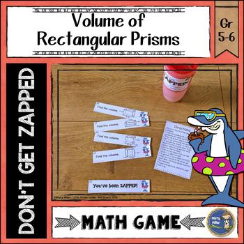 Volume of Rectangular Prisms Don't Get ZAPPED Math Game