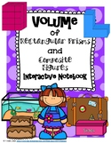 Volume of Rectangular Prisms and Composite Figures Interactive Notebook