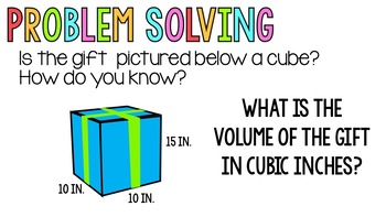 Volume of Rectangular Prisms and Cubes Guided Lesson - Editable