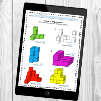 Volume Of Rectangular Prisms And Irregular Figures Worksheets Tpt