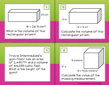 Volume of Rectangular Prisms with Formula Bh TEKS 6.8D