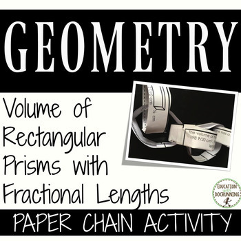 Volume Prisms with Fractional Edges Paper Chain Activity