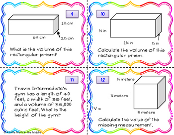 Volume of Rectangular Prisms TEKS 6.8D
