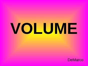 Volume of Regular and Irregular Objects