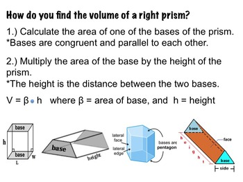 Volume & Surface Area of Right Prism ~Worksheet & PPT   7.G.B.6