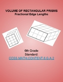 Volume of Right Rectangular Prisms with Fractional Edge Lengths