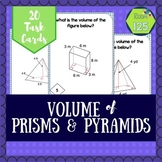 Volume of Prisms and Pyramids Task Cards