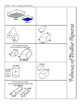Volume of Similar Figures~Foldable~Geometry~Finding Volume Ratio&Scale Factor