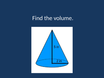 Volume of Solid Geometric Figures Review Game