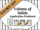 Volume of Solids - Application Problems Scavenger Hunt