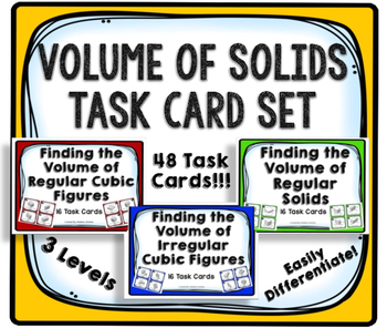 Volume of Solids Task Card Set