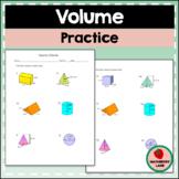 Volume of Solids Worksheet - Prisms, Cylinders, Cones, Pyr