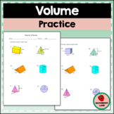 Volume of Solids Worksheet - Prisms, Cylinders, Cones, Pyr