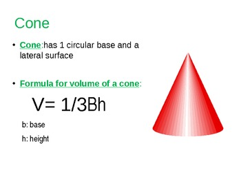 Volume of Sphere, Cone, and Cylinder PowerPoint