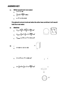 Volume of Sphere, Cone, and Cylinder Problems