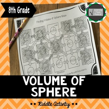 Volume of Sphere Maze Activity 8.G.C9