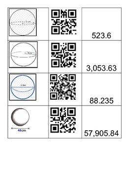 Volume of Sphere Qr Matching