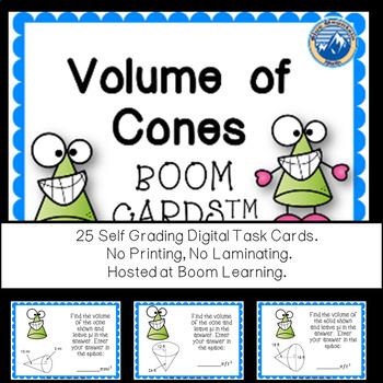 Volume of Cones Boom Cards--Digital Task Cards