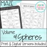 Volume of Spheres Worksheet - Maze Activity