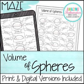 Volume of Spheres ~ Maze