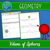 Volume of Spheres Worksheets