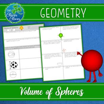 Volume of Spheres Worksheets