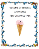 Volume of Spheres and Cones - Ice Cream Cone Performance T