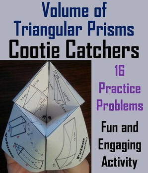 Volume of Triangular Prisms Practice Activity (Scoot Unit Review Game)